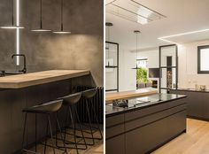Moderne Küche im minimalistischen Stil