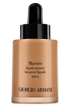 Giorgio Armani 'Maestro' Liquid Summer Bronzer SPF 15 (Limited Edition) available at #Nordstrom