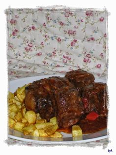 Cocinando... un abril encantado: Rabo de toro... Sevilla por los cuatro costados Carne, Steak, Beef, Recipes For Children, Homemade Recipe, Chicken, Cooking, Chinese Food, Health Foods