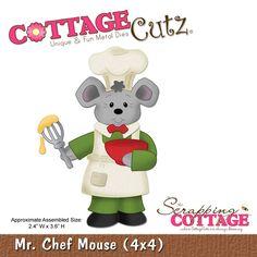 CottageCutz Mr. Chef Mouse (4x4)