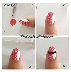 Pin for Later: 13 Sushi Manicures That Will Make You Want to Bite Your Nails Tasty Red Roe Roll Source: Instagram user thecraftyninja