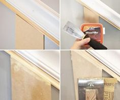 staircase molding patching holes