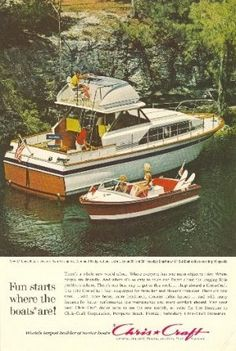 1955 Chris Craft Brochure Old Posters Advertisements