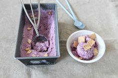 Frozen Yogurt mit Heidelbeeren
