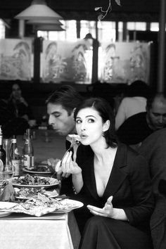 Eating / Drinking / Monica Bellucci by Philippe Cometti, 1998