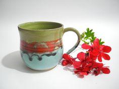 Coffee Cup Tea Mug Handmade Pottery Cup Ceramic Tea by ClayismyArt