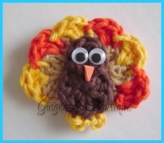Hand Crocheted Turkey