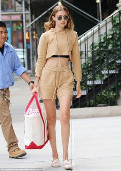 Back home: Gigi Hadid was spotted out in New York City on Tuesday...