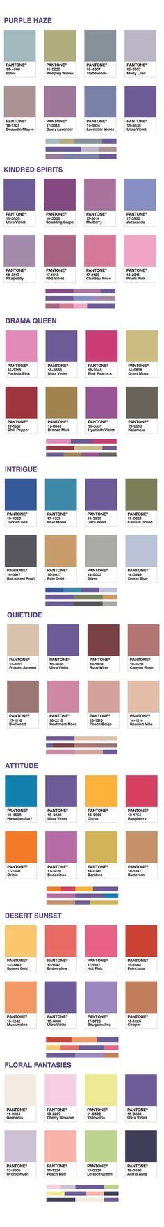 Pantone - Ultra Violet 2018 - colour of year. We love the colour harmonies! Our favourite is Floral Fantasies whats yours.