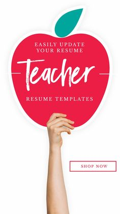 Teacher Resume Template for Word, Page Resume + Cover Letter + Reference Page