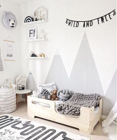 me whilst I move into this dreamy room… has created the . -Excuse me whilst I move into this dreamy room… has created the . - Polka dots circle cycling round wall sticker decal Kids teepee solid wood bed house wood house frame bed in Baby Room Themes, Baby Room Diy, Baby Room Decor, Nursery Room, Boy Toddler Bedroom, Toddler Rooms, Baby Boy Rooms, Kids Bedroom, Room Kids