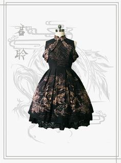 君聆_lolita原创设计连衣裙九子描龙op定金页面-淘宝网全球站
