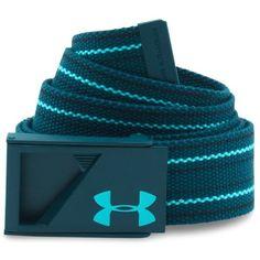 Under Armour UA Range Webbed Belt (165 DKK) ❤ liked on Polyvore featuring men's fashion, men's accessories, men's belts, nova teal and mens belts