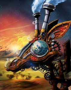 A Steam Powered Giraffe par Andrew Colunga #Steampunk