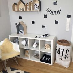"""In LOVE with this little guys bedroom and our batman decals. Ana you have put together such an adorable space! @mylittlelooove  #boybedroom…"""
