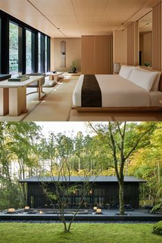 Modern Japanese Interior, Japanese Home Design, Japanese Style House, Japanese Home Decor, Sustainable Architecture, Residential Architecture, Modern Architecture, Pavilion Architecture, Hotel Room Design