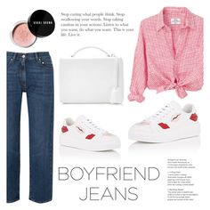 """""""Borrowed from the Boys: Boyfriend Jeans (Contest Entry)"""" by raniaghifaraa ❤ liked on Polyvore featuring AlexaChung, Prada, Mark Cross, Bobbi Brown Cosmetics and boyfriendjeans"""