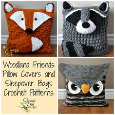 Ravelry: Woodland Friends Pillow and Bag Patterns