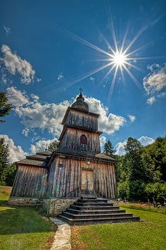 Beautiful Wooden Churches in Dobroslava Village, Slovakia Czech Republic, Hungary, Statue Of Liberty, Poland, Europe, Explore, Mansions, House Styles, Travel