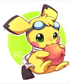 Pichu Generation: 2 Type: Electric Looks like: A little babi mouse dipped in kawaii paint Fuck me why is this little bastard so cute. Pichu is the first of the baby Pokemon, and arguably the. Chibi Pokemon, Pikachu Y Raichu, Pikachu Mignon, Ninetales Pokemon, Pichu Pokemon, Baby Pokemon, Pokemon Fan Art, Pokemon Go, Pokémon Kawaii