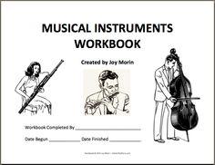 Printables~ musical instrument workbook