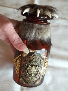 Large Werewolf Themed Bottle with Claw Stopper-Top