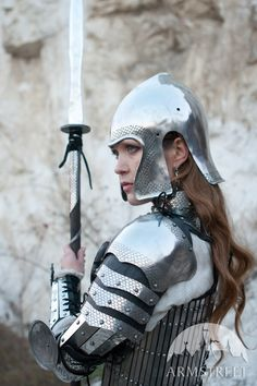 "Medieval Women's Armour Set ""Lady Warrior""; Fantasy Armor; Women's armor by armstreet on Etsy https://www.etsy.com/listing/233117098/medieval-womens-armour-set-lady-warrior"