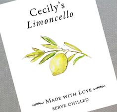36 best limoncello labels images | Limoncello, Lemon, Liqueurs