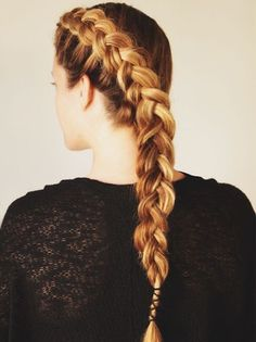 Style your hair into a gorgeous wrap braid.