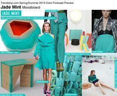 Jade Mint Moodboard   COLOR SPRING 2013 WOMEN'S TREND REPORT TRENDSTOP.COM