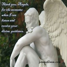 Thank you, Angels, for the moments when I can listen and receive your divine guidance. #angels #listen #guidance #meditation #prayer #gratitude #statue #affirmation #jameshimm