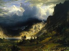 A Storm in the Rocky Mountains (1866), Albert Bierstadt