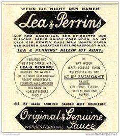 Original-Werbung/ Anzeige 1897 - LEA & PERRINS WORCESTERSAUCE - ca. 90 x 100…