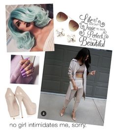 """""""Coffee wit Aug"""" by paigedenaiya ❤ liked on Polyvore featuring Casadei, Kate Spade, Forever 21 and SeductiveRebel"""