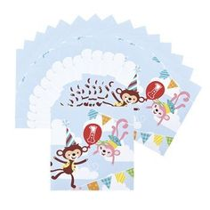 Paper 1st Birthday Circus Luncheon Napkins * Be sure to check out this awesome product. (This is an affiliate link)