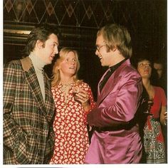Paul McCartney, Linda McCartney and Elton John Elton Jon, Rock And Roll, 1970 Style, Paul Mccartney And Wings, Captain Fantastic, Sir Paul, The Fab Four, Shows, John Lennon