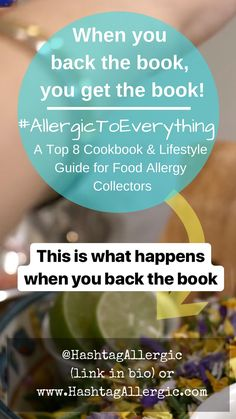 This is what happens when you back the book! funded, backed by on Allergy Remedies, Allergy Free Recipes, What Happens When You, Food Allergies, Free Food, The Book, Shit Happens, Lifestyle, Blog