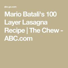 Mario Batali's 100 Layer Lasagna Recipe | The Chew - ABC.com