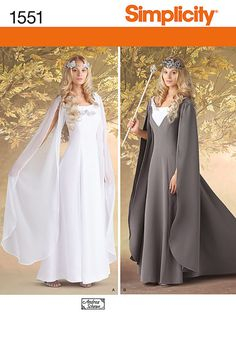 Plus Size Medieval Princess or Queen Gown Sewing Pattern, Lord of the Rings, Game of Thrones Simplicity 1552 sizes 16, 18, 20, 22, 24 uncut
