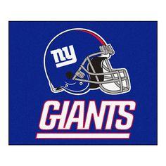New York Giants Blue Tufted Area Rug