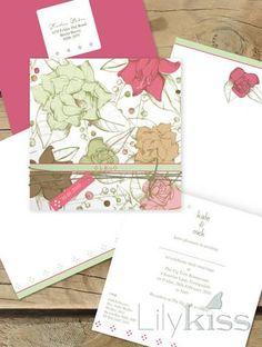 secret garden lilykiss wedding invitation