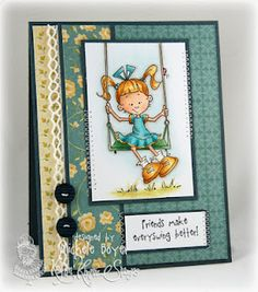 Card made using Kraftin' Kimmie Stamp set.