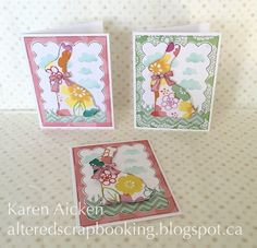 Altered Scrapbooking: Easter Bunny Trio of Cards