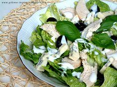 Qchenne-Inspiracje! FIT blog o zdrowym stylu życia i zdrowym odżywianiu. Kaloryczność potraw. : Fit wersja sałatki cezar z lekkim sosem jogurtowym...
