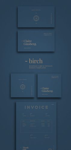 perfect, modern and minimalist branding and logo design. graphic design inspiration using geometric shapes and modern fonts. love the gold foil on blue background.