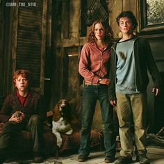 """Emma Watson as Hermione Granger & Daniel Radcliffe as Harry Potter - this is the Shrieking Shack scene from """"Harry Potter and the Prisoner of Azkaban. Harry James Potter, Blaise Harry Potter, Mundo Harry Potter, Harry Potter Cast, Harry Potter Universal, Harry Potter Characters, Harry Potter World, Book Characters, Harry And Hermione"""