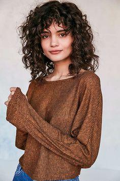 Curly hair bangs