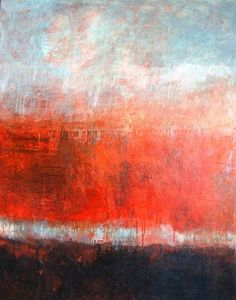 Linda Coppens - Silence series n°6 Acrylic on canvas (100 x 80 cm)