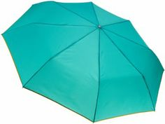 Amazon.com: Totes Titan Ladies Super Strong Auto Open Close Oversized Compact Umbrella, Jade With Piping, One Size: Clothing