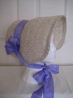Regency/Victorian Bonnet. Jane Austen. Civil war, 1840's, 1850's Handmade Straw with Lilac Trim. BY REGENCY REGALIA ON ETSY
